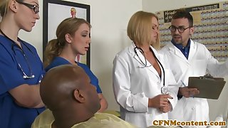 CFNM nurses cocksuck black dick in hospital