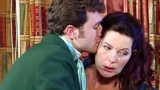 Magdalene St Michaels, Elexis Monroe and James Deen are lover of Victorian age. Mature brunette over 59 Magdalene St Michaels bjoins handsome man and a sex loving lady in the bedroom